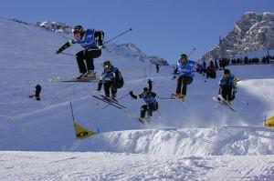 Des skieurs à Tignes
